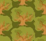 Eiken bos naadloos patroon grote oude houten textuur Stock Afbeelding