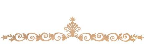Eiken houtdecoratie Stock Illustratie