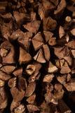 Eiken houttextuur voor brandhout stock foto's