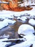 Eiken Kreek in de winter Stock Afbeelding