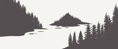 Eiken silhouet Eiken Bomen, Zwart-witte Silhouetten op Witte Achtergrond Vector vector illustratie