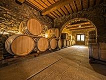 Eiken wijnvatten Royalty-vrije Stock Foto's