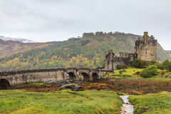 Eilan Donan castle on a grey day Stock Photo