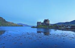 Eilan Donan Castle at sunset Stock Photos