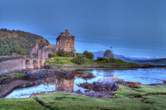 Eilan Donan Castle at sunset Stock Photo