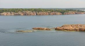 Eiland in archipel van Aland-Eilanden Royalty-vrije Stock Foto's