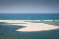 Eiland bij de kust van de Bazaruto-Eilanden Royalty-vrije Stock Foto's