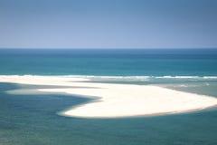 Eiland bij de kust van de Bazaruto-Eilanden Stock Foto's