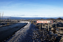 Eiland, Blauwe Lagune, Centraal Geothermisch Landschap Stock Foto