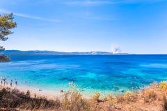 Eiland Brac in Kroatië, Europa stock afbeeldingen