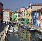 Eiland Burano - Venetië - Italië Stock Foto's