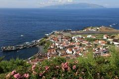 Eiland Corvo in de Atlantische Oceaan de Azoren Portugal Royalty-vrije Stock Foto's