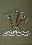 Eiland dat van shells wordt gemaakt Royalty-vrije Stock Afbeeldingen