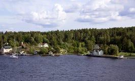 Eiland in de archipel van Stockholm Stock Fotografie