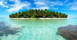 Eiland in de Maldiven Stock Afbeelding