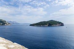 Eiland dichtbij Dubrovnik Stock Foto's