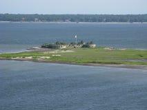 Eiland en kasteel Charleston South Carolina Stock Foto