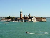 Eiland en kerk van San Giorgio Maggiore, Venetië Royalty-vrije Stock Foto's