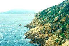 Eiland en oceaan Stock Afbeeldingen
