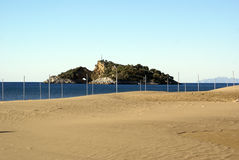 Eiland en strand Royalty-vrije Stock Afbeelding