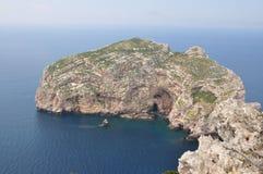 Eiland Foradada - Alghero Royalty-vrije Stock Afbeeldingen