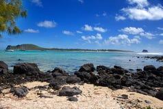 Eiland Gabriel.Mauritius.Landscape in een zonnige dag stock fotografie