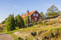Eiland Harstena in Zweden Stock Fotografie