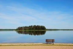 Eiland in het meer Royalty-vrije Stock Foto