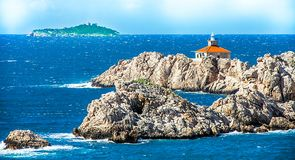 Eiland in het Middellandse-Zeegebied van Dubrovnik Royalty-vrije Stock Afbeelding