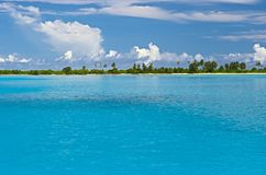 Eiland in Indische Oceaan Stock Afbeeldingen