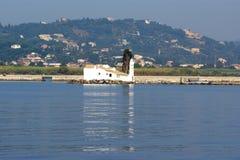 Eiland Korfu, Ionische overzees, Griekenland Stock Afbeeldingen