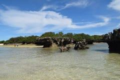 Eiland Kwale en het omringen op Zanzibar Stock Foto