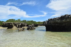 Eiland Kwale en het omringen op Zanzibar Royalty-vrije Stock Foto