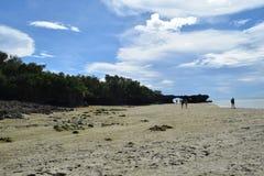 Eiland Kwale en het omringen op Zanzibar Stock Foto's