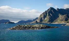 Eiland in Lofoten Royalty-vrije Stock Fotografie
