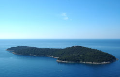 Eiland Lokrum dichtbij Dubrovnik, Kroatië Stock Foto's