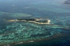 Eiland (luchtschot) stock fotografie