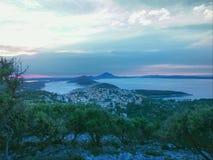 Eiland Mali LoÅ ¡ inj, Kroatië stock foto