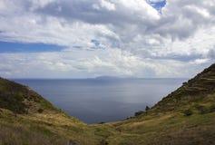 Eiland op de Atlantische Oceaan van Madera wordt gezien die Stock Foto's