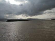 Eiland op een delta Stock Foto