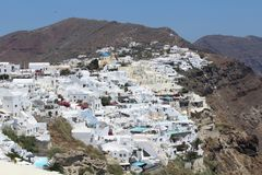 Eiland Santorini, Griekenland stock foto