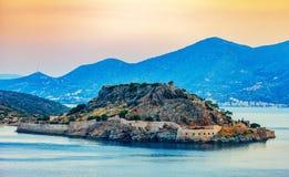Eiland Spinalonga, Kreta, Griekenland royalty-vrije stock afbeelding