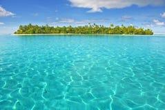Eiland in Stille Zuidzee Stock Afbeelding