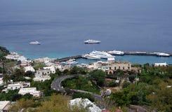 Eiland van Capri Stock Foto