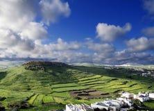 Eiland van de Drie Heuvels Stock Afbeeldingen