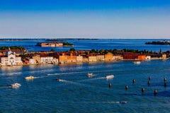Eiland van Giudecca en lagune, in Venetië, Italië royalty-vrije stock afbeeldingen