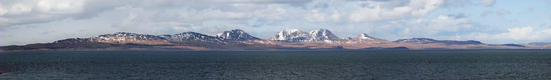 Eiland van het Juragebergte van Gigha, Schotland Stock Afbeeldingen