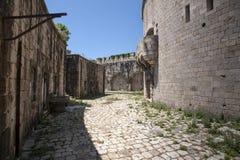 Eiland van Mamula-vesting, de ingang aan de baai van Boka Kotorska, Montenegro Royalty-vrije Stock Afbeelding