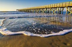 Eiland van Palmenpijler, de Atlantische Oceaan, Zuid-Carolina Royalty-vrije Stock Afbeeldingen