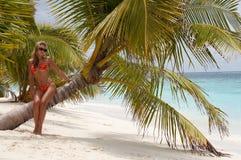 Eiland van Paradijs! De Maldiven Stock Afbeelding